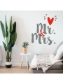 Vinilo 'Mr & Mrs'. Adhesivo decoración