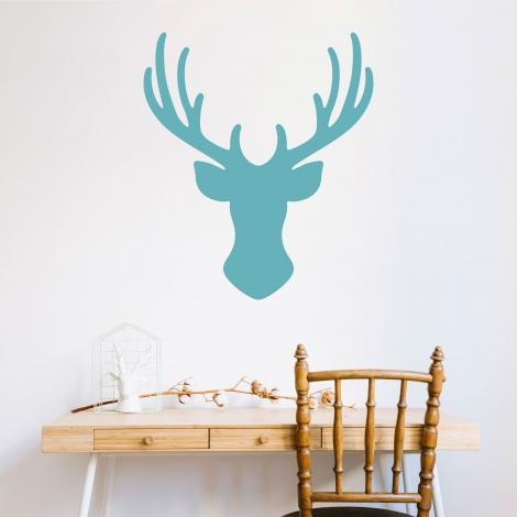 Vinilo 'Silueta de ciervo'. Adhesivo decorativo