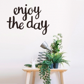 Vinilo 'Enjoy the day'. Adhesivo decoración