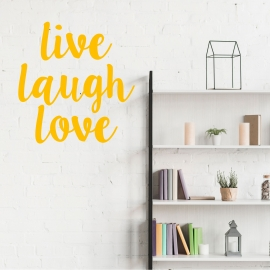 Vinilo 'Live laugh love'. Adhesivo decoración