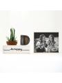 Caja de luz con foto personalizada. Lámpara personalizada. Foto iluminada.