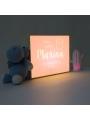 Caja de luz personalizada para bebé 'Dulces Sueños'. Lámpara natalicio.