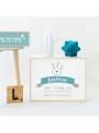 Caja de luz personalizada para bebé 'Corona'. Lámpara natalicio.