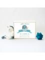 Caja de luz personalizada para bebé 'Elefante'. Lámpara natalicio.