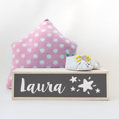 Caja de luz personalizada con nombre. Lámpara con nombre