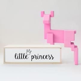 """Caja de luz """"Little Princess"""". Lámpara madera 'Little Princess'"""