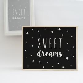Caja de luz 'Sweet Dreams'. Lámpara de madera Dulces Sueños.