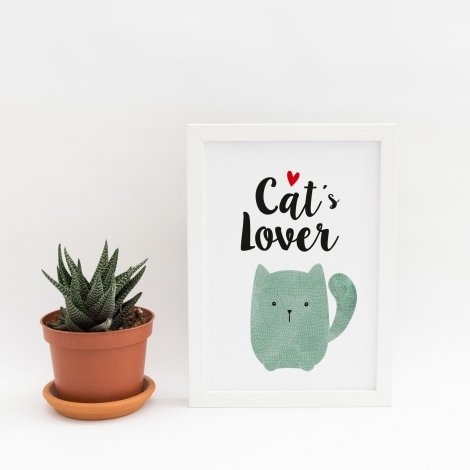 Lámina decorativa 'Cats Lovers'