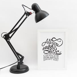 Lámina decorativa 'All You Need'