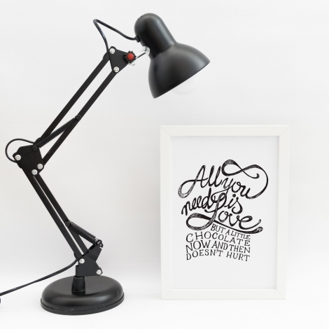 Lámina decorativa 'All You Need'