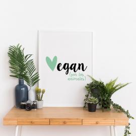 Lámina decorativa 'Vegan'