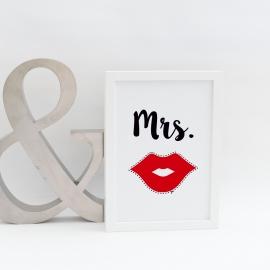 Lámina decorativa 'Mrs'