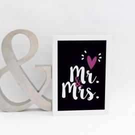 Lámina decorativa 'Mr&Mrs'