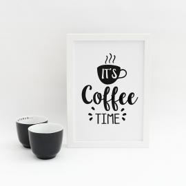 Lámina decorativa 'Coffee Time'