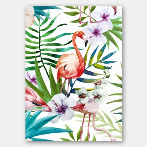 L mina decorativa 39 tropical 39 impresa en papel satin - Laminas decorativas para imprimir ...