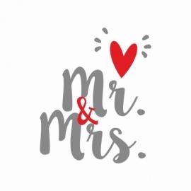 'Mr & Mrs' vinilo adhesivo