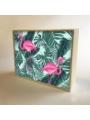 """Caja de luz diseño """"Flamingo"""""""