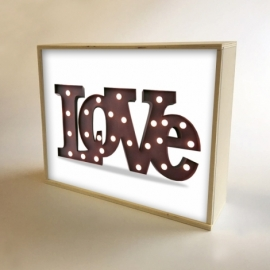 "Caja de luz diseño ""Love"""