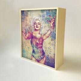 "Caja de luz diseño ""Marilin"""
