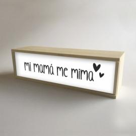 """Caja de luz """"Mi Mamá me mima"""""""