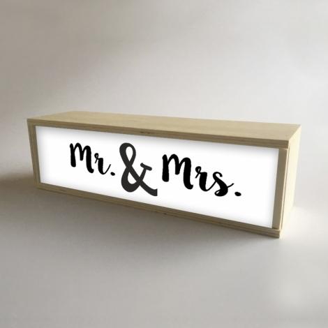 "Caja de luz ""Mr & Mrs"""