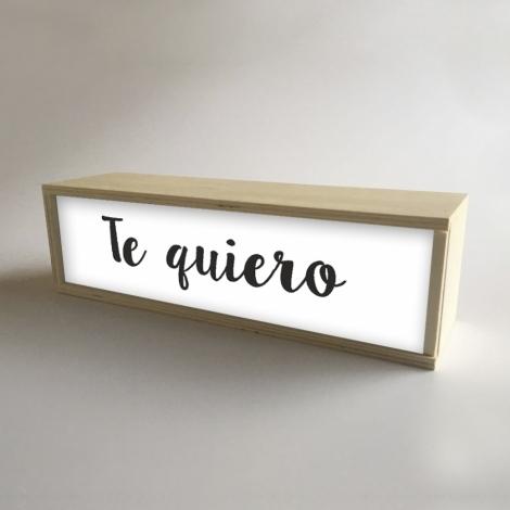 """Caja de luz """"Te quiero"""""""