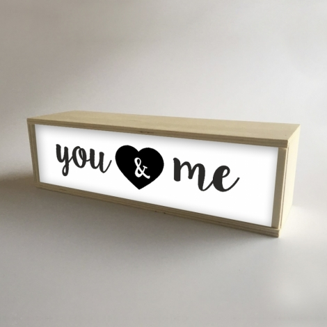 "Caja de luz ""You & Me"""
