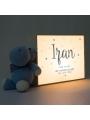 Caja de luz personalizada para bebé Hola Mundo